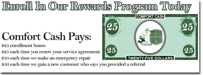 Save money on your furnace repair in Forest VA with our rewards program!